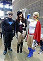 C2E2 2014 - Nightwing, Zatanna & Power Girl (14292353253).jpg