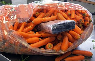 Pharr–Reynosa International Bridge - U.S. Pharr International Bridge cargo facility agents intercepted a package of cocaine  within a bag of carrots in a commercial fresh produce shipment.