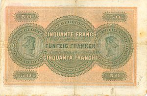 Banknotes of the Swiss franc - Image: CHF50 1 back horizontal