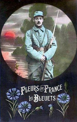 Bleuet de France - Propaganda postcard.