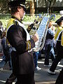 Cal Band en route to Memorial Stadium for 2008 Big Game 21.JPG