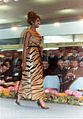 Calf fur dress, Fur Fair1964 Frankfurt Main Internationale Pelzmesse.jpg