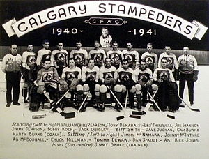 Hockey Alberta - 1940-41 Calgary Stampeders of the Alberta Senior Hockey League