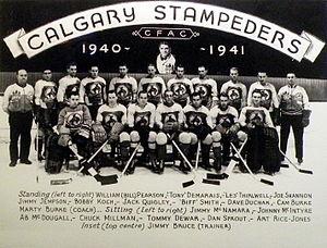 Calgary Stampeders (ice hockey) - 1940-41 Calgary Stampeders