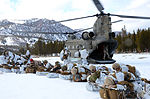 California National Guard Chinooks airlift Marines training in mountain warfare tactics to high elevation landing zones 140328-A-YY327-259.jpg