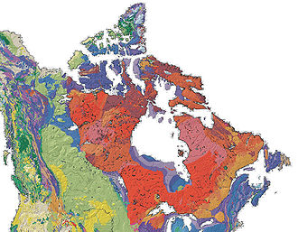 Canadian Shield - Image: Canada geological map