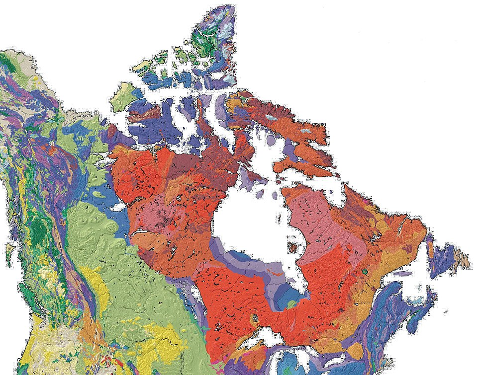 Canada geological map