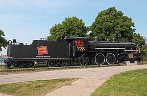 Canadian National class K-3 4-6-2 - Image: Canadian National class K 3 4 6 2 steam locomotive 5588 Spirit of Windsor right 2016 05 25