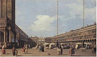 Canaletto - Piazza di San Marco, looking towards the Church of San Geminiano Woburn.jpg