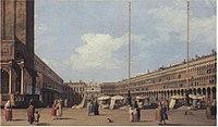 Canaletto - Piazza di San Marco, looking towards the Church of San Geminiano Woburn.jpg