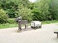 Canalside wooden sculpture, Brecon - geograph.org.uk - 2476423.jpg
