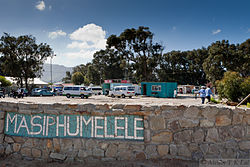 Road sign in Masiphumelele township