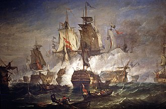 Battle of Cape St Vincent (1797) - Battle off Cape St Vincent, 1797 by William Adolphus Knell