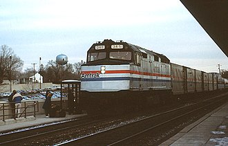Rockville station - The Capitol Limited at Rockville in 1987