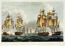 Capture of Pomone, Engageante and Babetpar Thomas Whitcombe