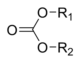 Carbonate ester - Chemical structure of the carbonate ester group.