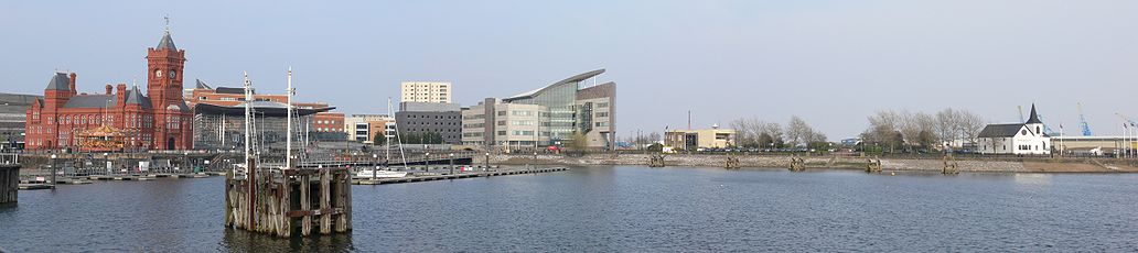 Panorama of the Cardiff Bay in April 2010