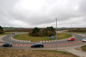 Carland Cross - Carland Cross roundabout on the A30 trunk road