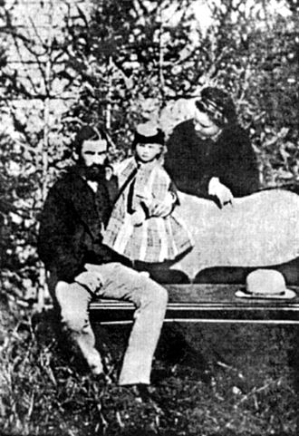 Carol I of Romania - Domnitor Carol with his wife and their only daughter (1873)