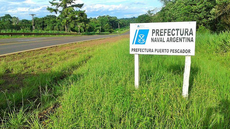 File:Cartel Garuhapé (Provincia de Misiones, Argentina) - Prefectura Naval Argentina - Prefectura Puerto Pescador.jpg