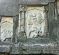 Carving depicting the Durga slaying Mahishasura, on the walls of Sibodol temple, Sibsagar.jpg