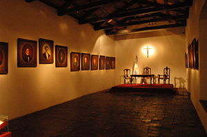 Casa de Tucumán - Hall of the Argentine Declaration of Independence, with portraits of the voting representatives.