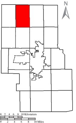Location of Cass Township in Richland County.