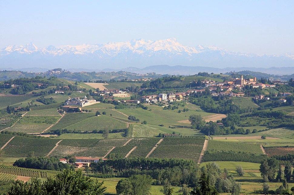Castelnuovo Calcea from San Marzano Oliveto
