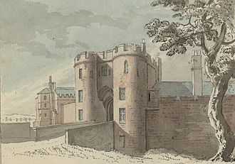 John Neville, 1st Marquess of Montagu - The gate of Chester Castle; John and his brother were imprisoned here for a year.