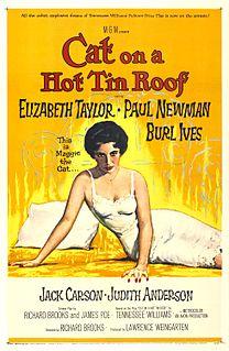 <i>Cat on a Hot Tin Roof</i> (1958 film) 1958 film