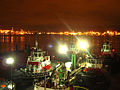 Cates tugs moored at Lonsdale Quay at night.jpg