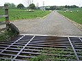 Cattle grid on track to the water treatment works - geograph.org.uk - 456941.jpg