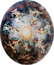Ceiling Painted Dome Cupola Angels Fighting Demons in Vatican Museums.png