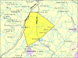 Census Bureau map of Sandyston Township, New Jersey