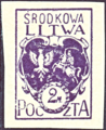 Central Lithuania 1920 MiNr 003B B002.png