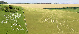 Cerne Abbas Giant - Homer Simpson as promotion for The Simpsons Movie