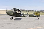 Cessna O-1E Bird Dog (VH-LQX) taxiing at Wagga Wagga Airport.jpg