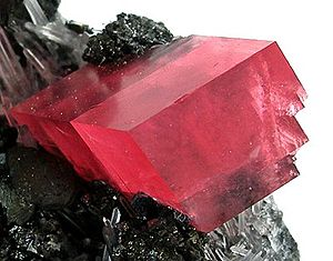 Carbonate minerals - Rhodochrosite, Sweet Home Mine, Alma, Colorado; 5.2 × 4.2 × 2.3 cm