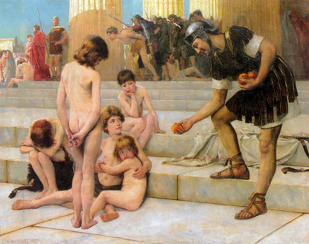 Charles Bartlett - Captives in Rome, 1888