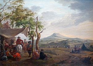 Charles Eschard - Military Camp by Charles Eschard, Musée barrois (Bar-le-Duc)