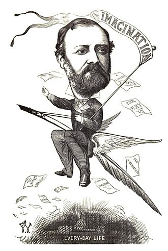 """Charles Reade - """"Charles Reade,"""" illustrated by Frederick Waddy (1872)"""