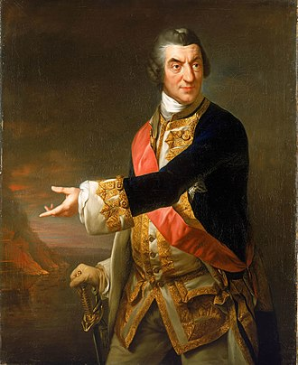 Richard Brompton - Charles Saunders, painted in 1772/1773. Now in the National Maritime Museum.