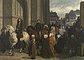 Charles de Groux, De bedevaart van Sint-Guido te Anderlecht, 1856.jpg