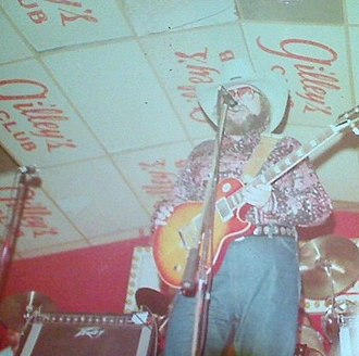 Gilley's Club -  Charlie Daniels on stage at Gilley's, 1979