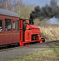 Chasewater Light Railway - waiting for the right of way (geograph 4366799).jpg
