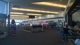 Queenstown Airport - Check in Hall at Queenstown Airport