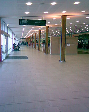 Hobart International Airport - The combined check-in area