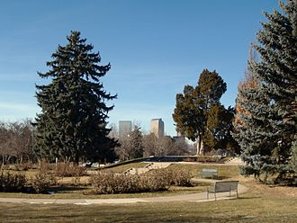 Cheesman Park, Denver - The north end of the park.