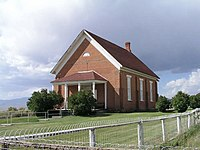 Chestefield Idaho Meeting House.JPG