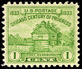 Chicago Century of Progress Fort Dearborn 1c 1933 issue U.S. stamp.jpg